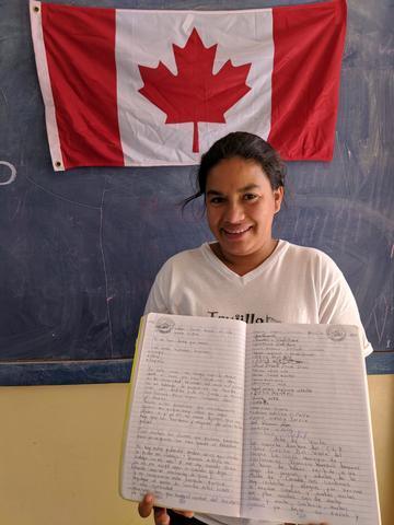 Teacher in mountain school